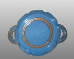 Round Blue tray with band