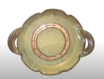 Round tray with band, irish ale glaze
